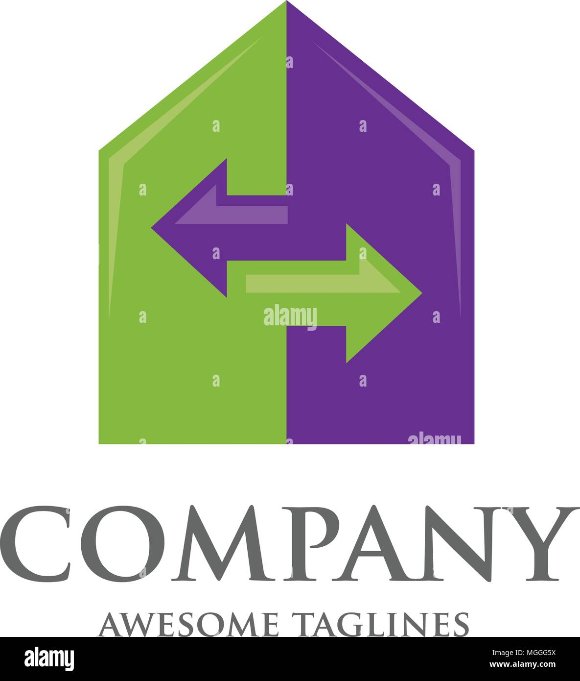 Home And Real Estate Renovation Business Logo Template Stock