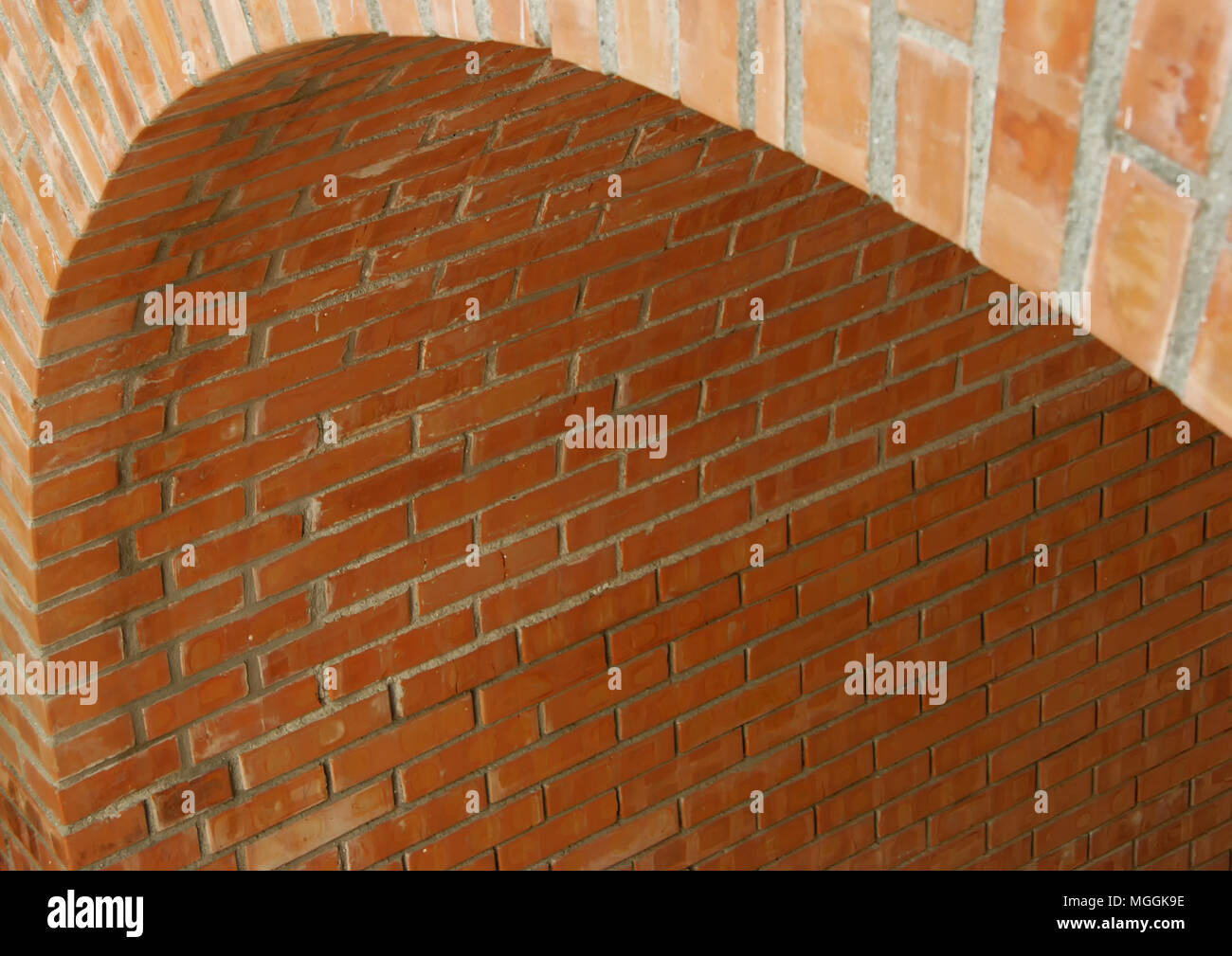 Arched brick passage - Stock Image