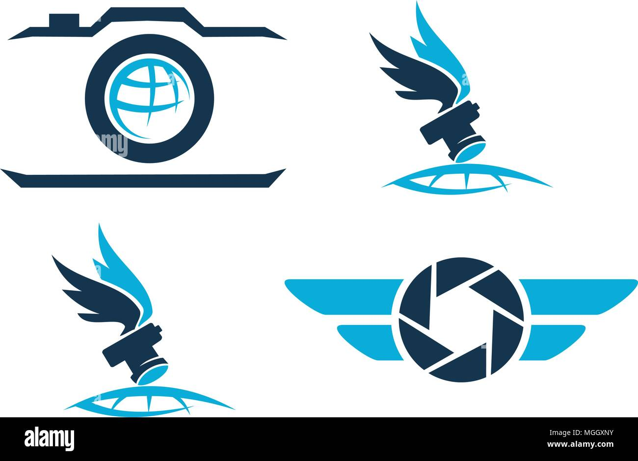 Air  Photography Template Set - Stock Vector