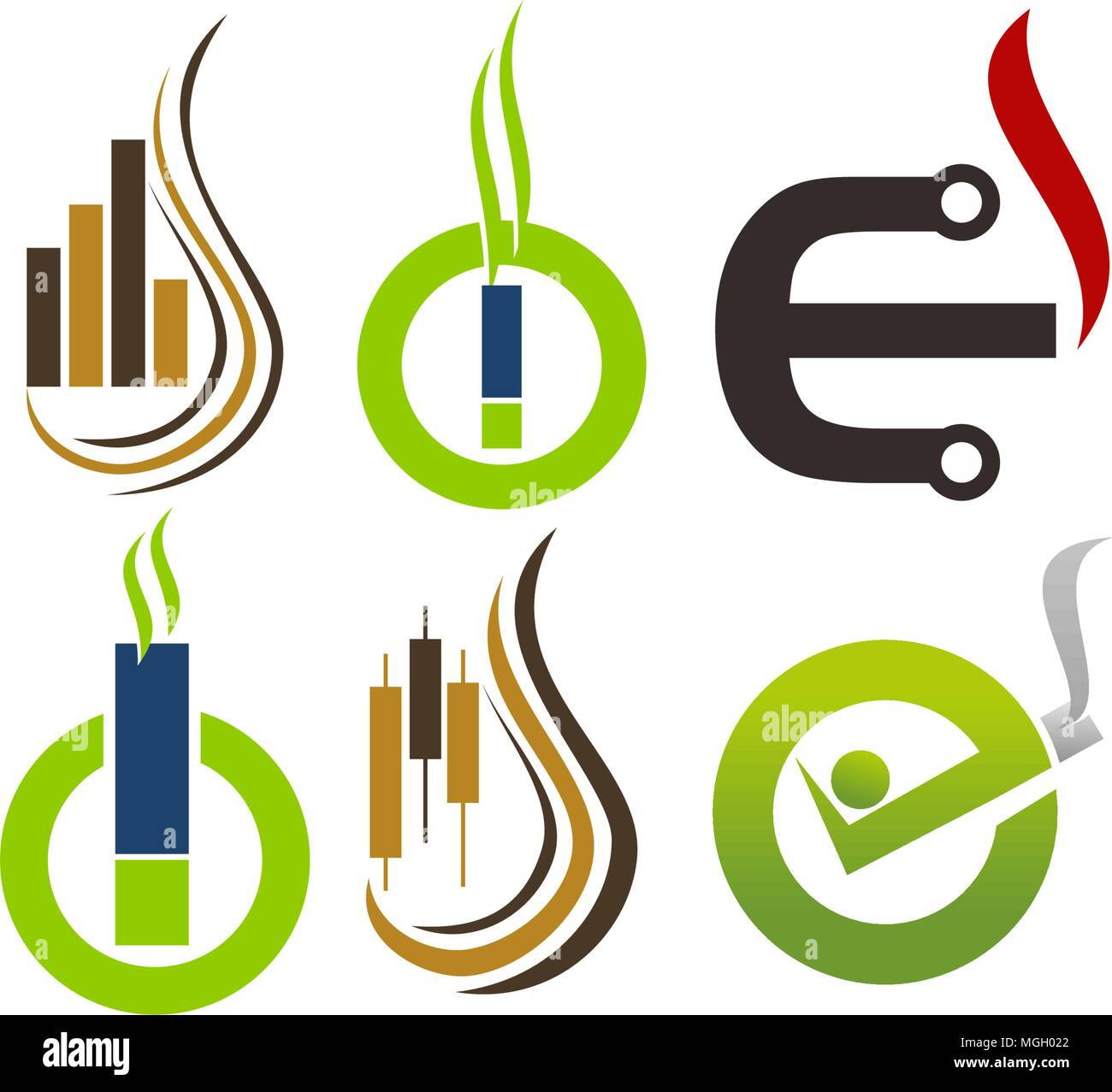 Electrical cigarette Healthy Set - Stock Vector