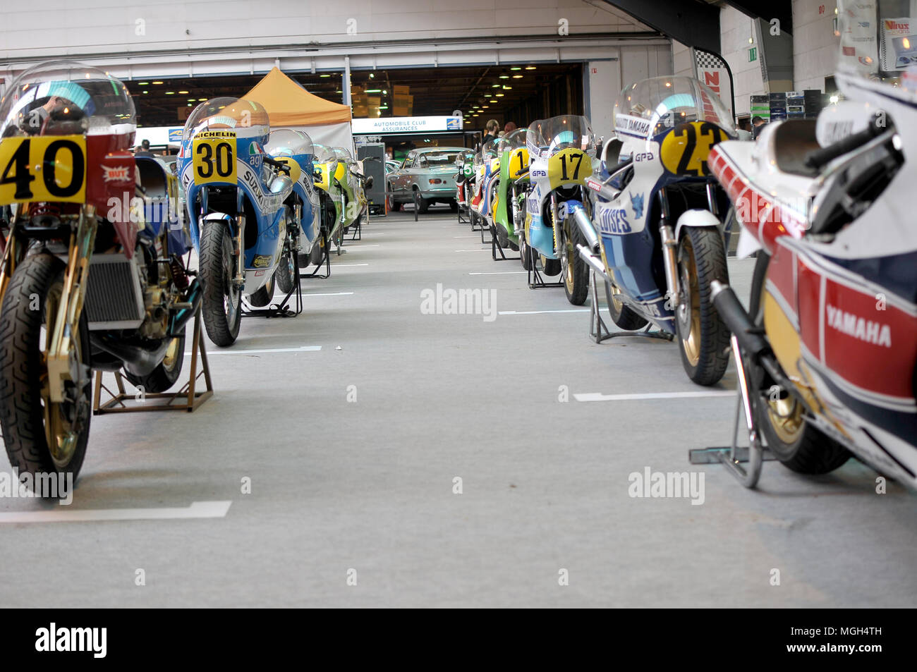 Legends motorbikes course - Stock Image
