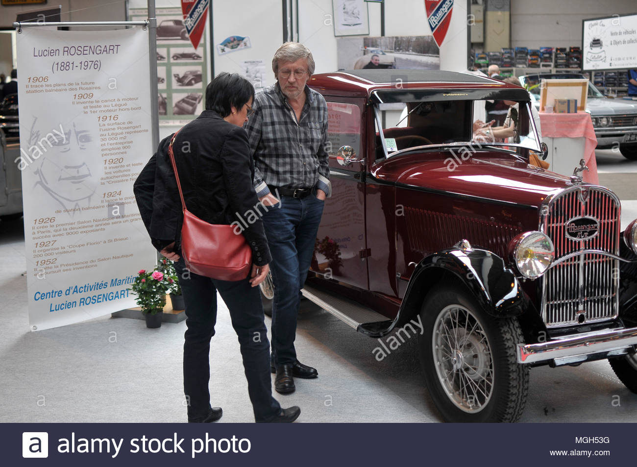 automobile motorcycle show - Salon Auto moto - Stock Image