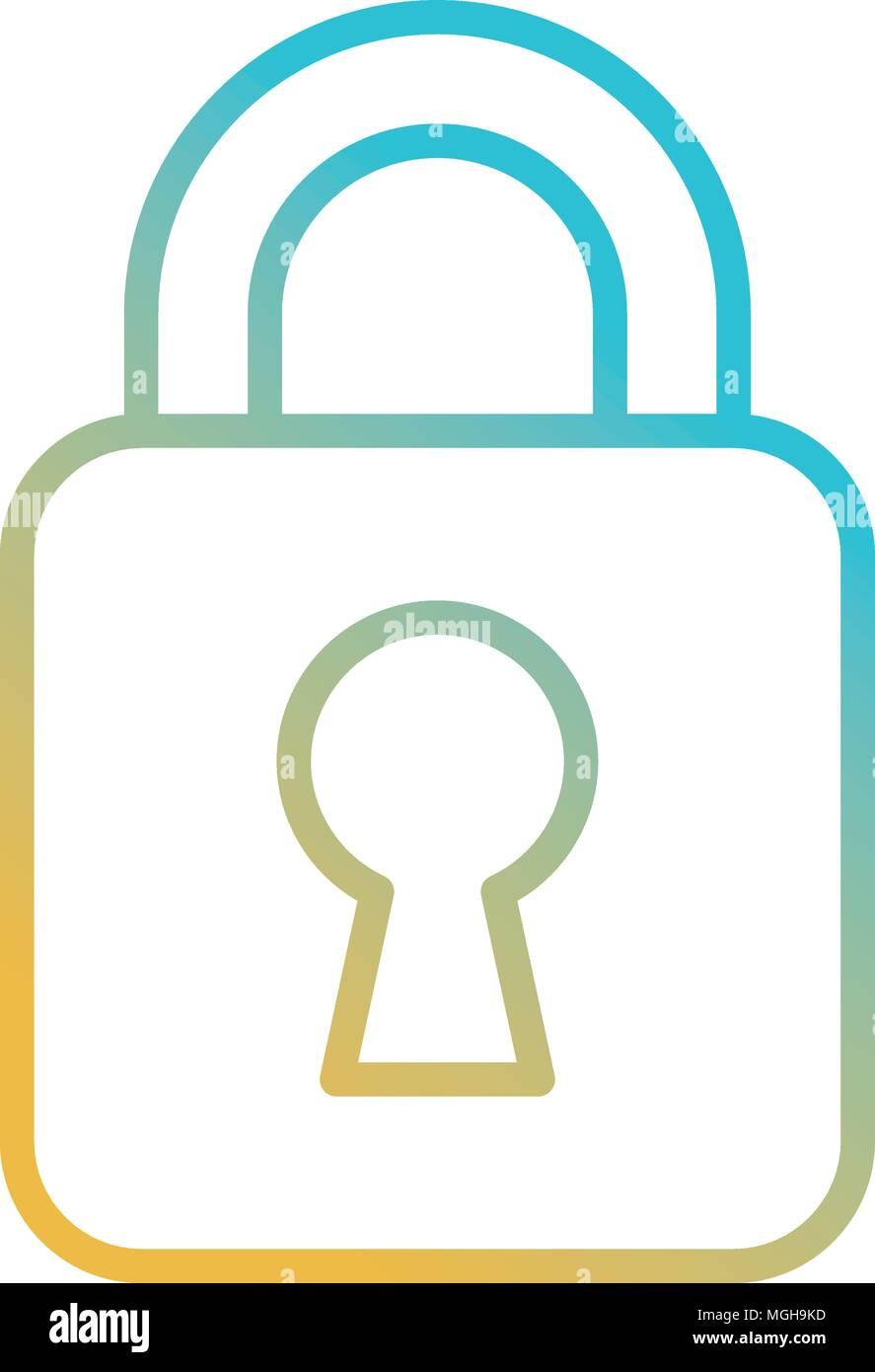 safe secure padlock icon - Stock Image