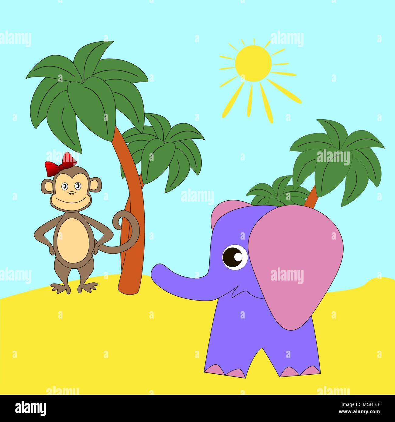 Надписью, слон и мартышка смешные картинки