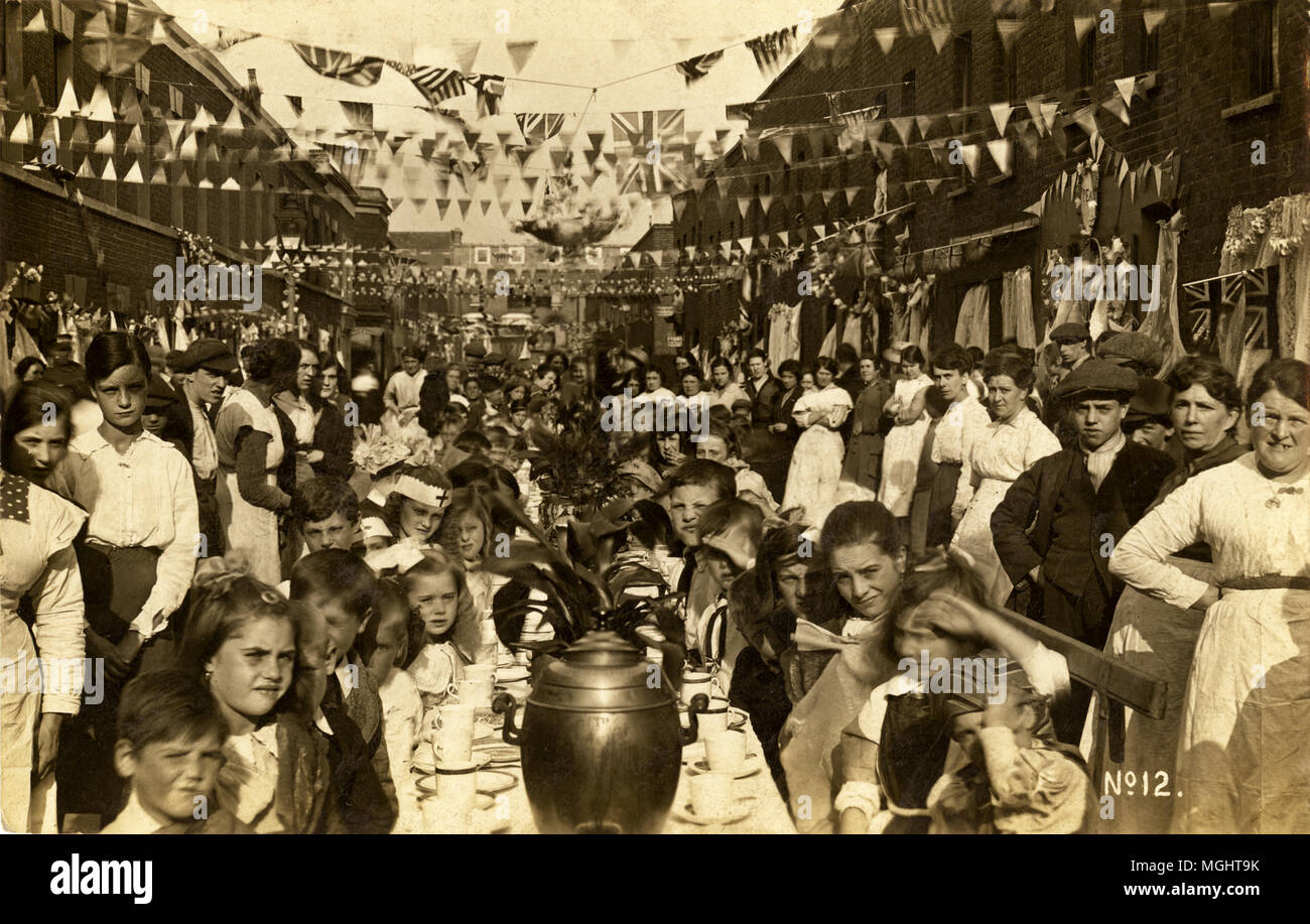 A photo of an East London street party - Stock Image