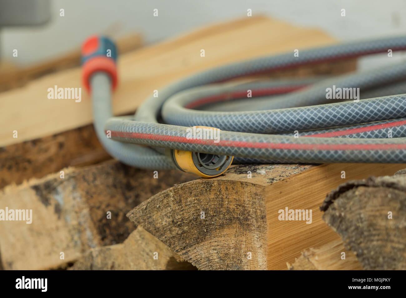 Green Plastic Garden Hose Nozzle Stock Photos & Green Plastic Garden ...