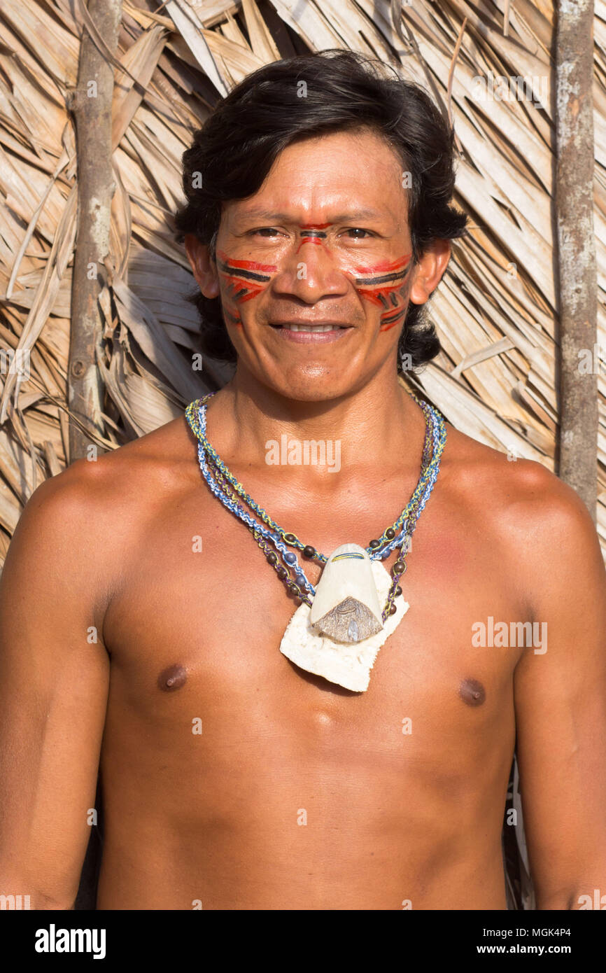 Images of the Rio Negro in the Amazon. Portrait and Landscape of there life there and it's people. - Stock Image