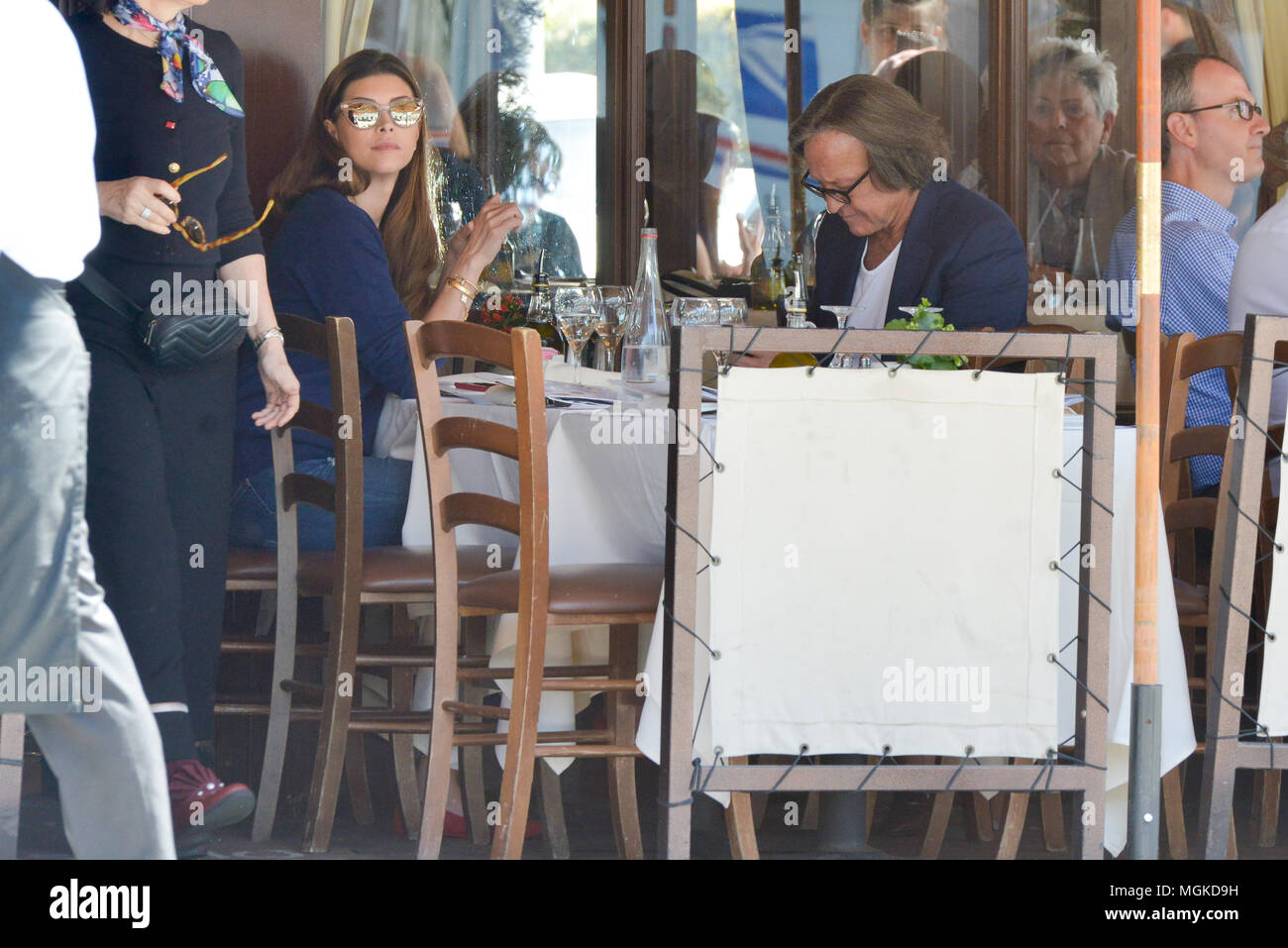 Mohamed Hadid And His Girlfriend Shiva Safai At Il Pastaio