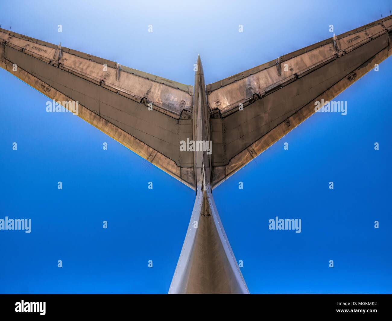 Tail Wing Of Jet Airliner - Stock Image