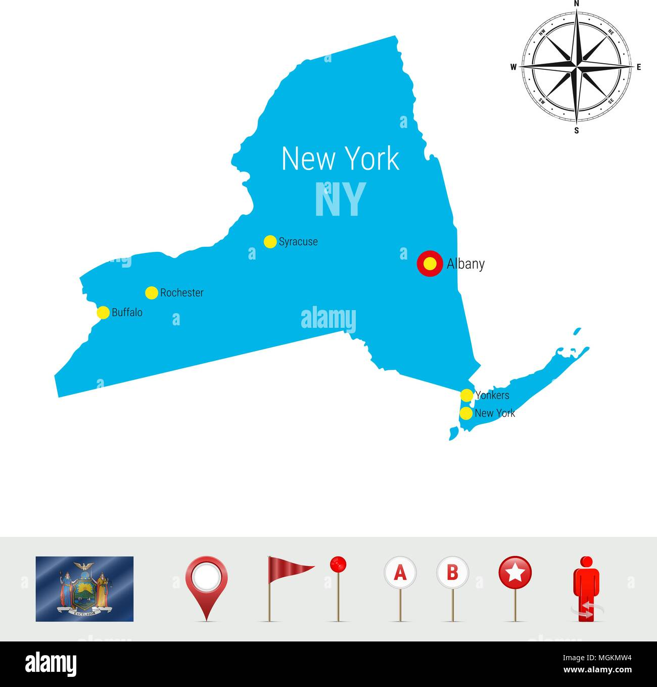 Detailed Map Of Ny State on
