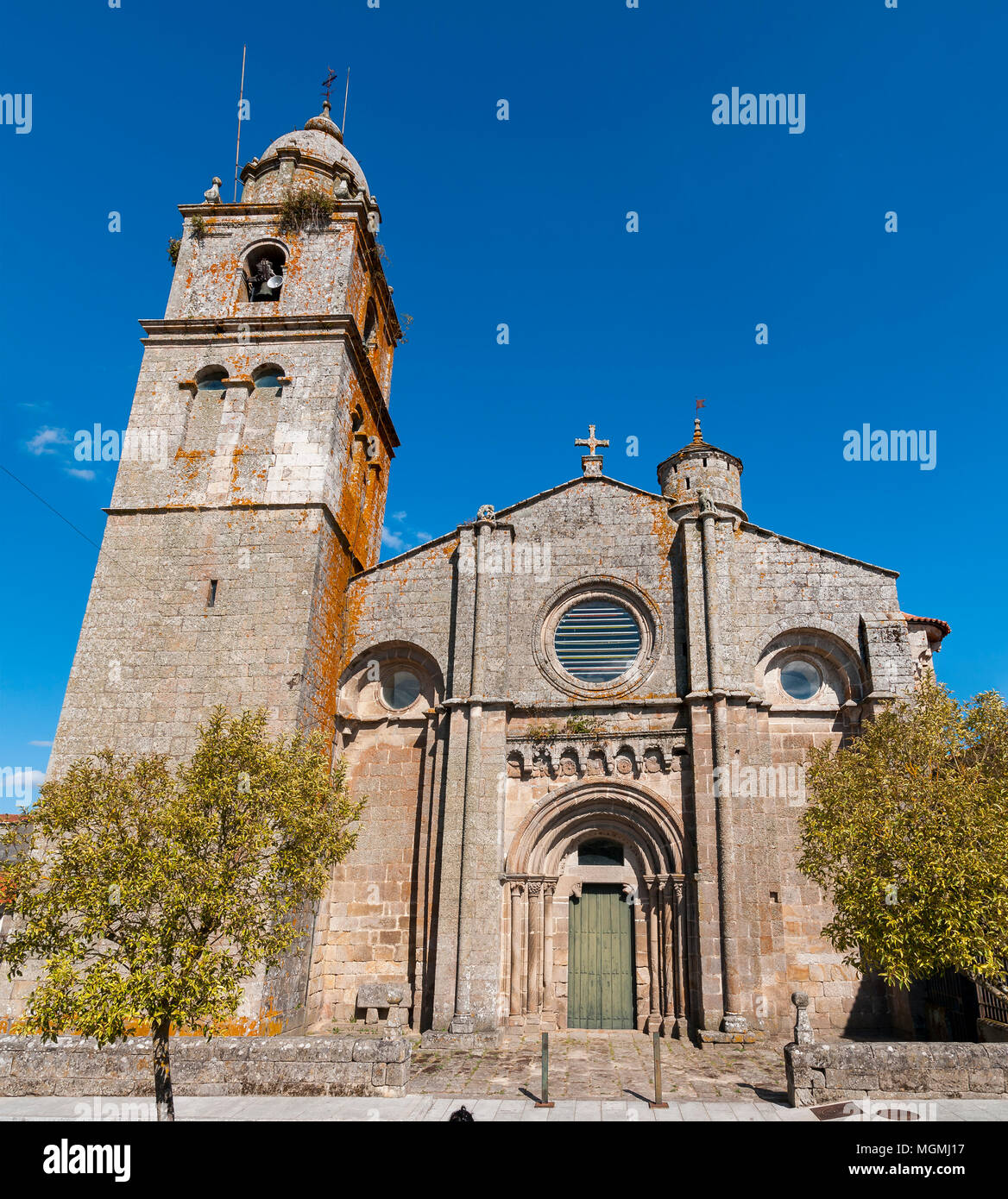 Monasterio de Santa María. Xunqueira de Ambía. Orense. Galicia. España Stock Photo
