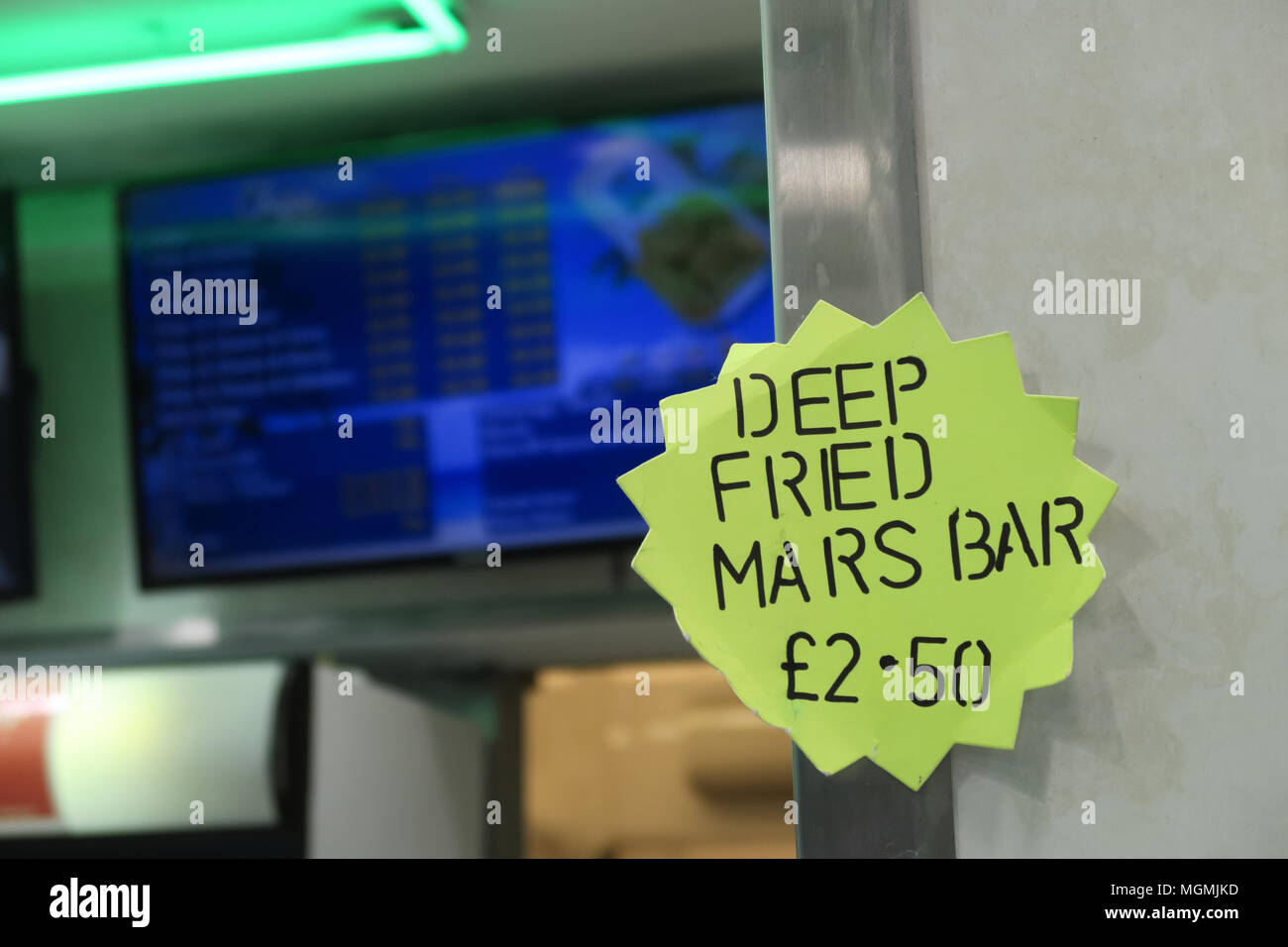 Scottish Deep Fried Mars Bar - Stock Image