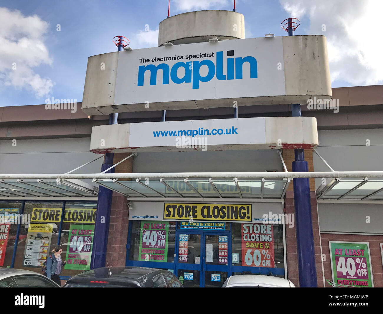 Maplins Warrington Store Closing - Stock Image