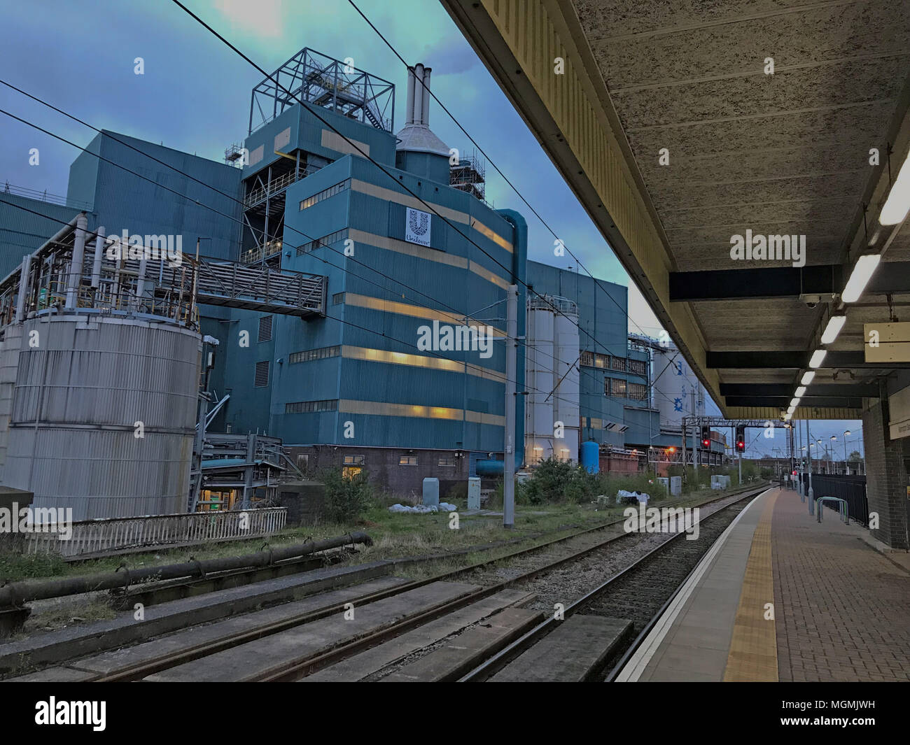 Unilever Persil plant at Warrington Bank Quay - Stock Image