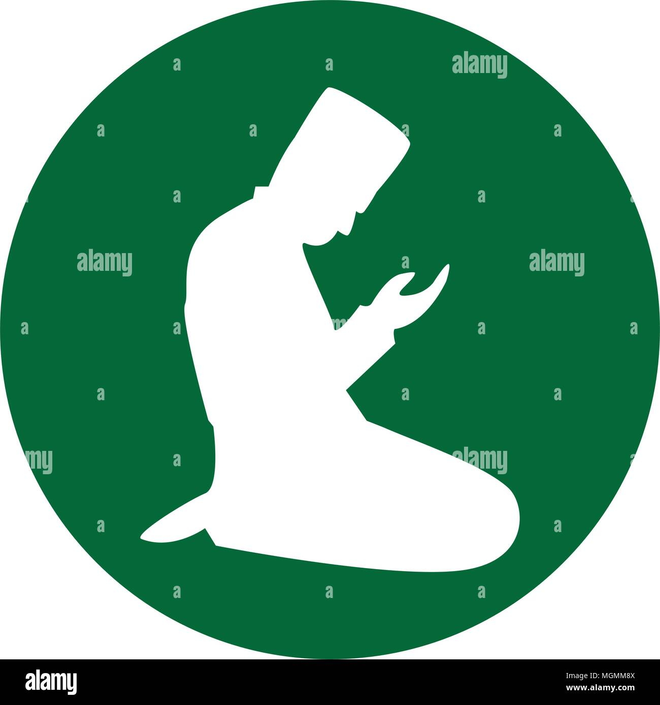 Muslim Praying Symbol Concept Of Islam Is The Religion Vector