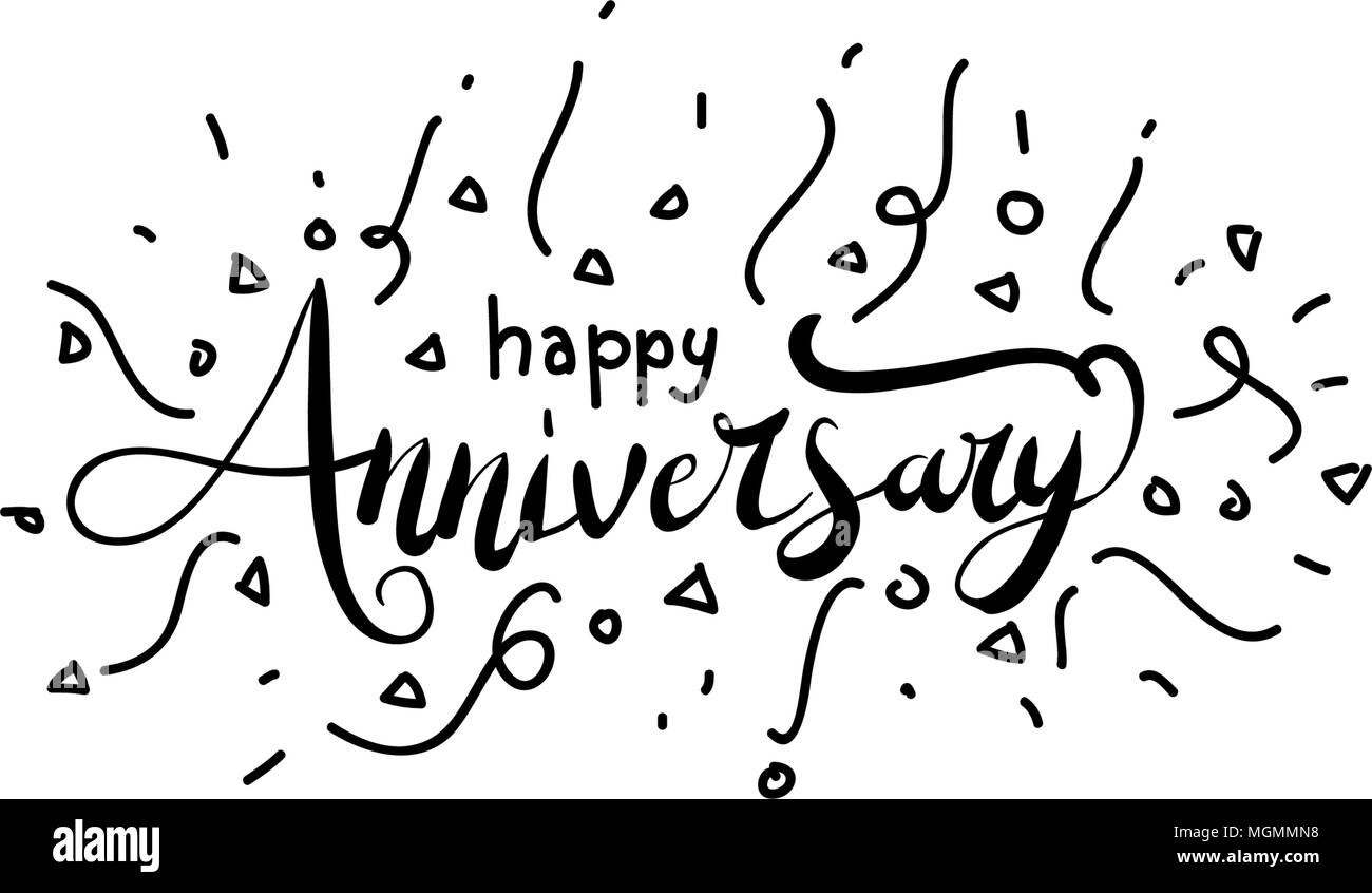 happy anniversary template vector stock vector art illustration