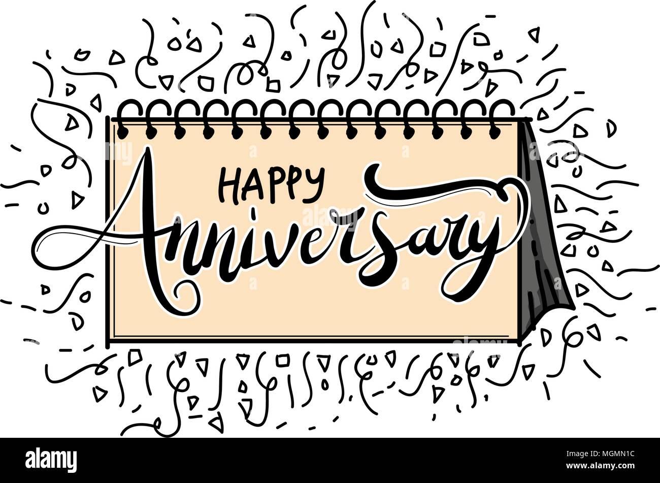 happy anniversary template vector stock vector art illustration
