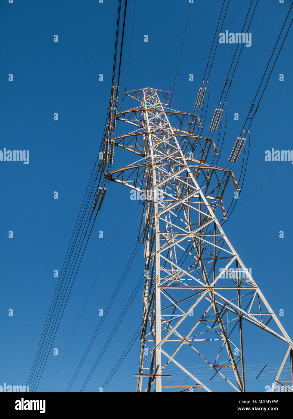 Electricity transmission pylon - Stock Image