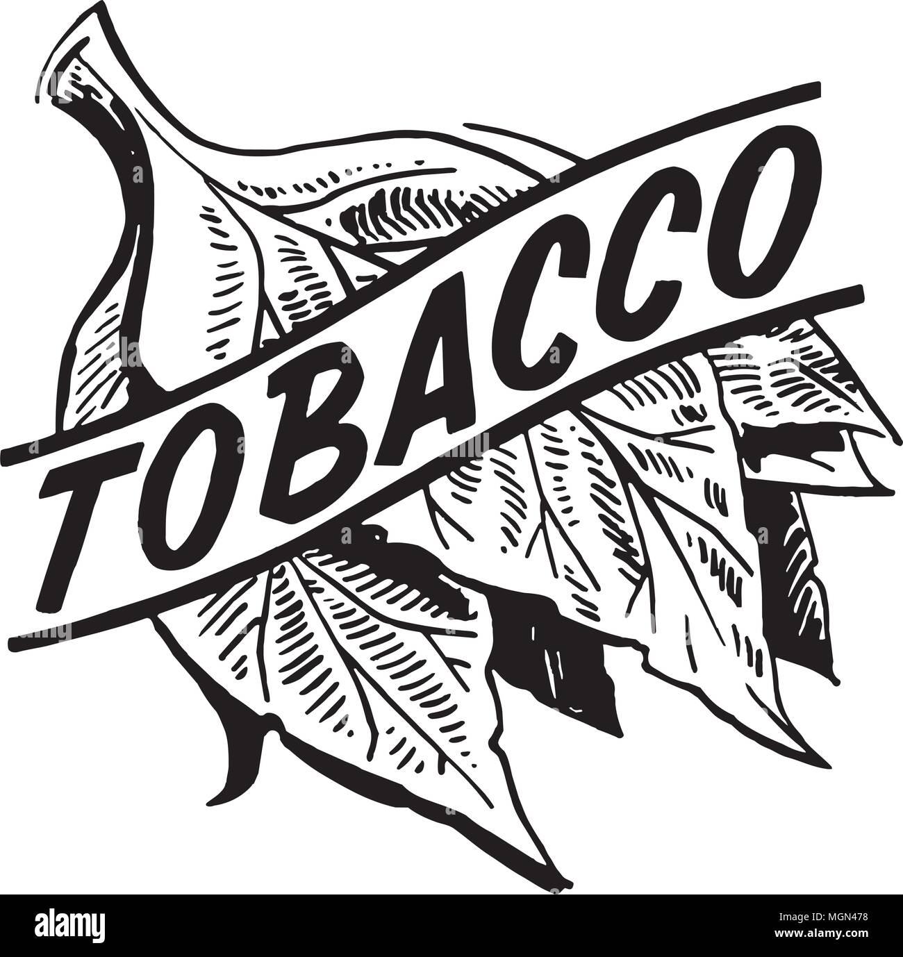 tobacco retro clipart illustration stock vector art illustration rh alamy com tobacco free clip art tobacco leaf clip art