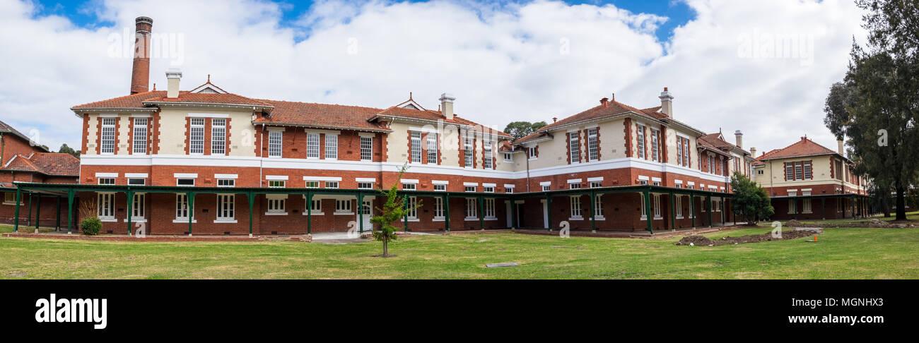 The Terraces, La Trobe University. Formerly the Mont Park Psychiatric Hospital, built in 1903, Bundoora, Victoria, Australia - Stock Image