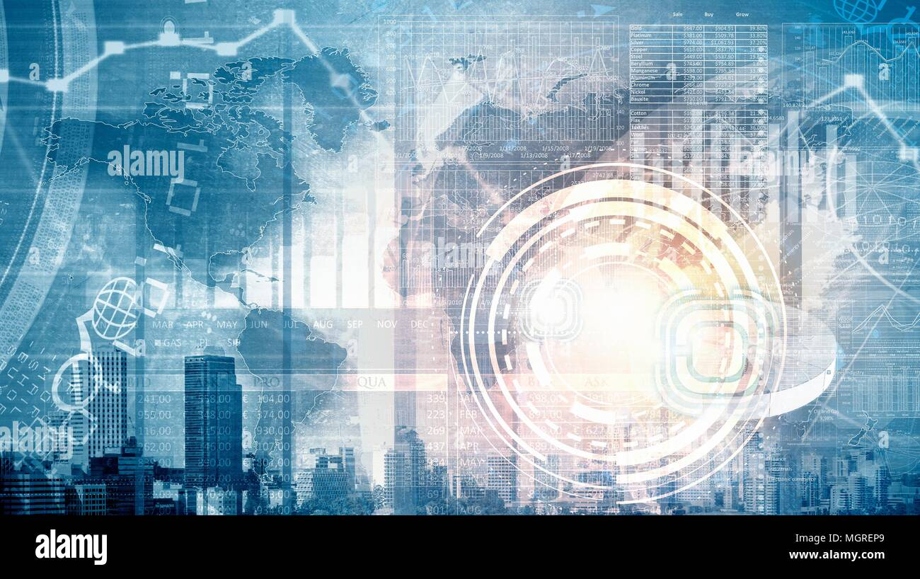 Computer technology Worldwide information     Communications connectivity - Stock Image
