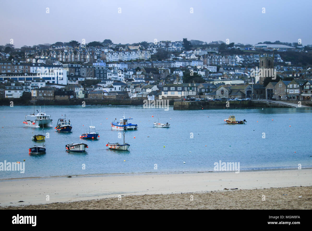 St Ives Harbour - Stock Image