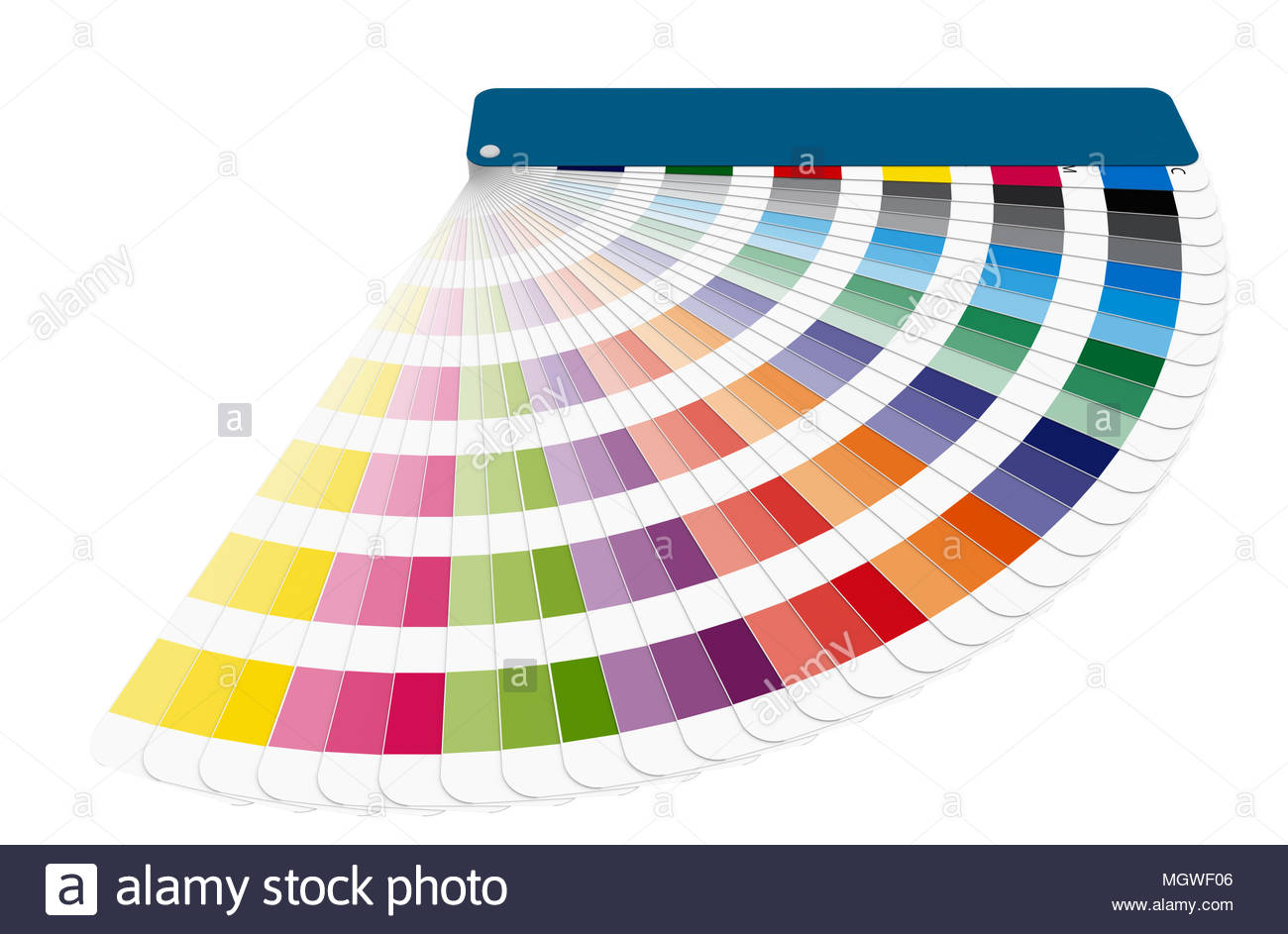 Color Chart To Use In Prepress And Commercial Printing Isolated Over