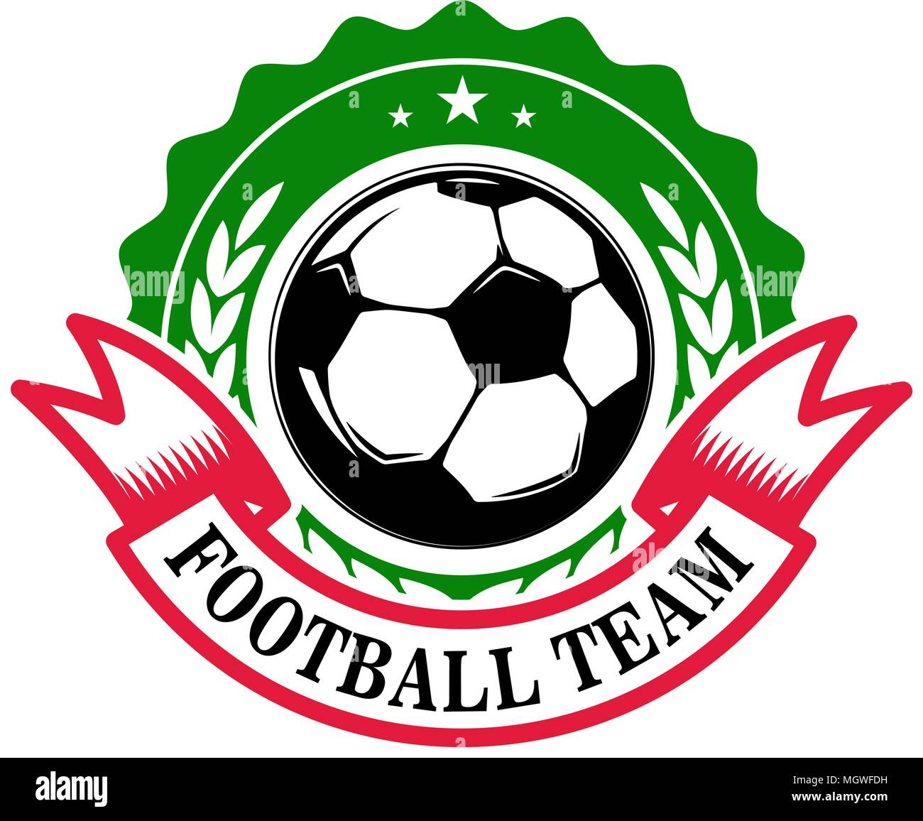 Football Team Emblem Template With Soccer Ball Design Element For