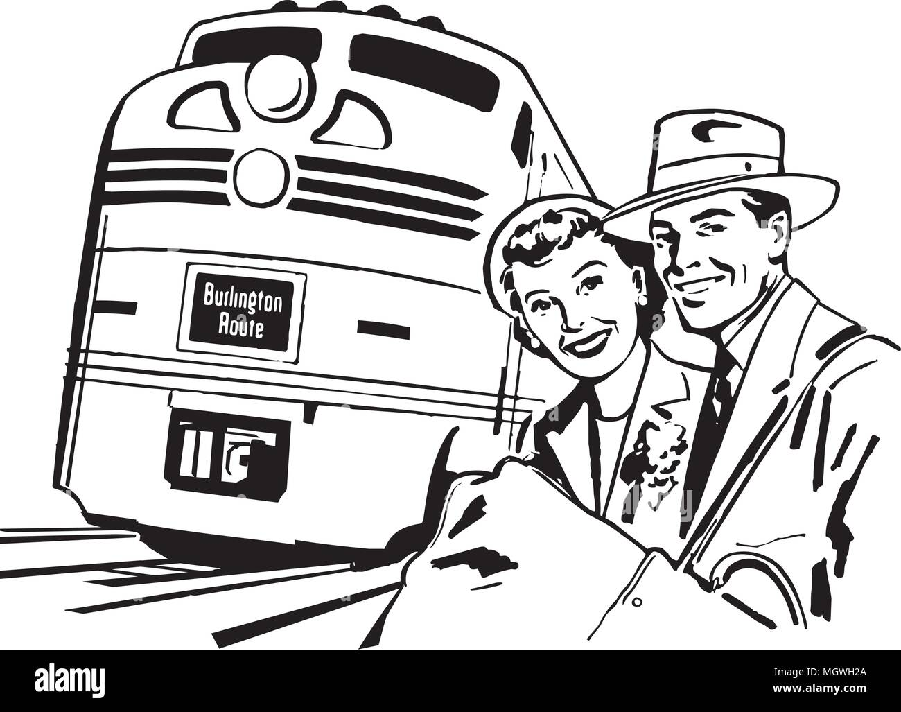 Family Vacation On Train - Download Free Vectors, Clipart Graphics & Vector  Art