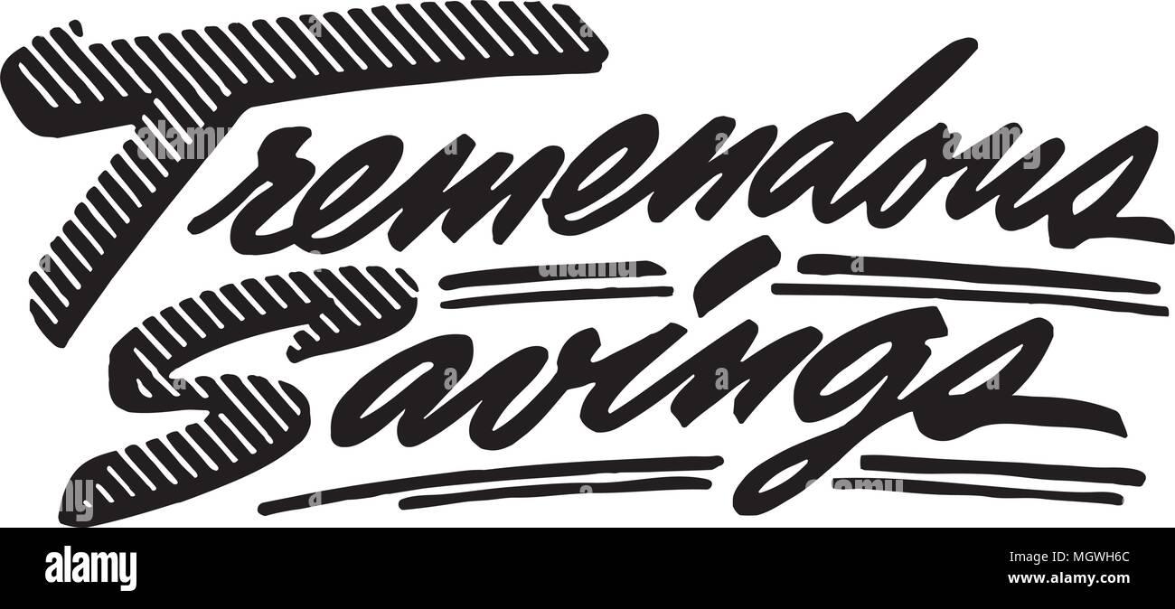 Tremendous Savings - Retro Clipart Banner Stock Vector