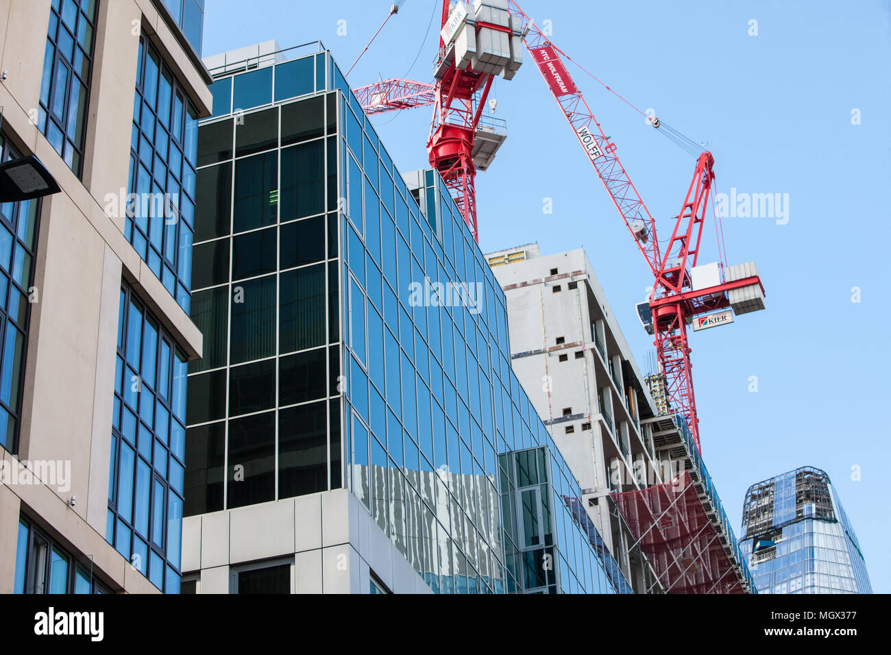 New,build,Construction,of,One Blackfriars, Blackfriars One,building,nearing,end,of,construction,phase,London,Great,Britain,GB,UK,U.K.,Europe,European, Stock Photo