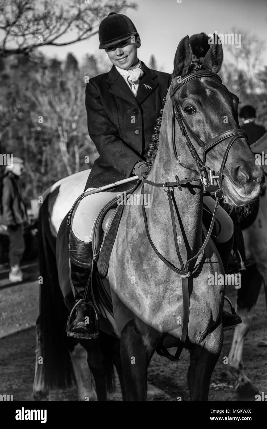horse riders - Stock Image