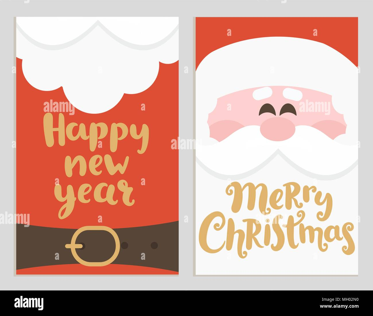 Santas Message Banners For Happy New Year And Merry Christmas