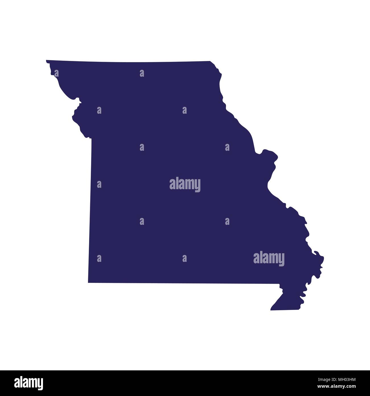 Map Of The Us State Of Missouri Vector Illustration Stock Vector - Us-map-with-missouri