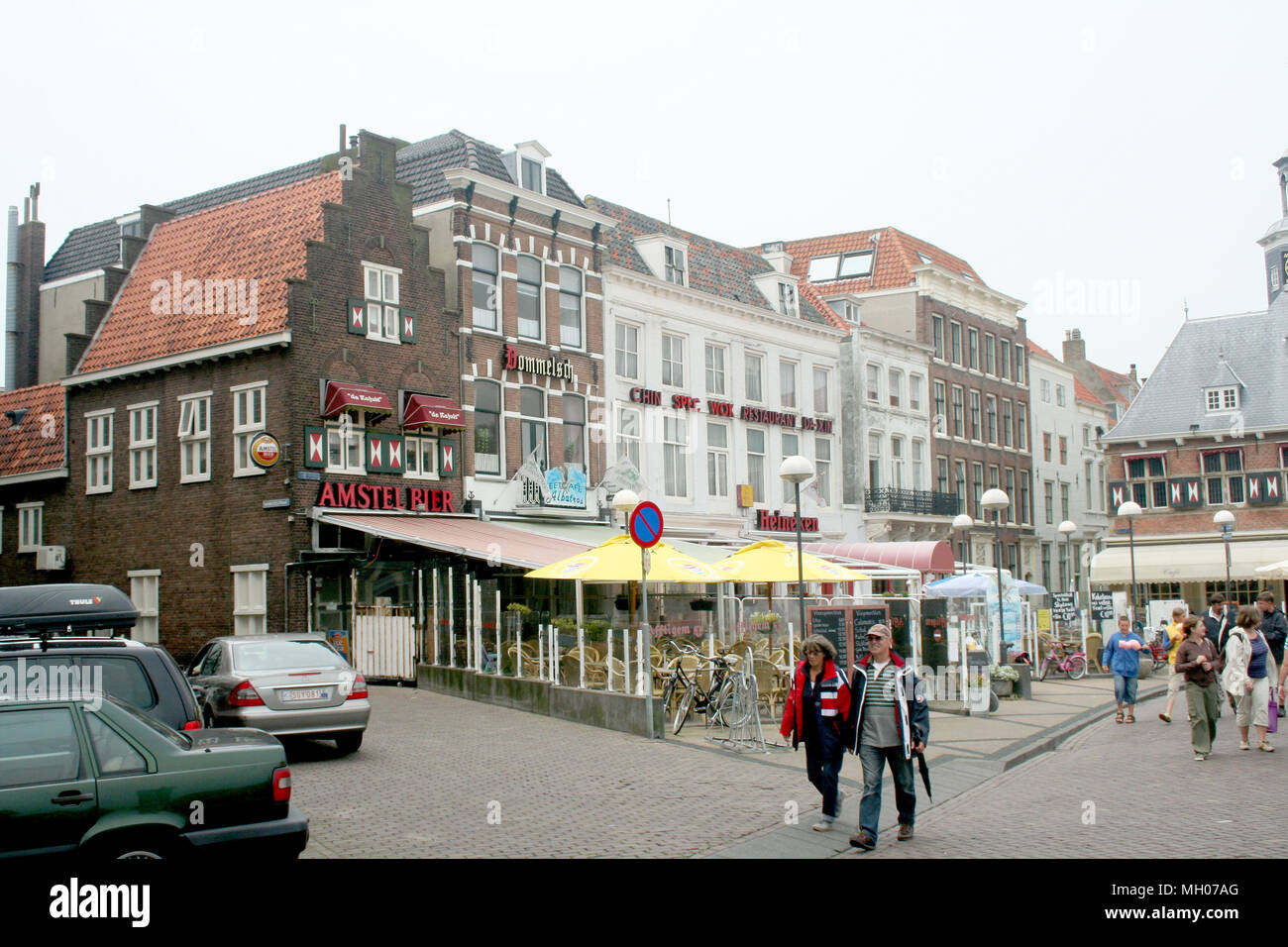 6782a1cf6b8 Netherlands,Holland,Dutch,Zeeland,Vlissingen, june 2016:Restaurants and  terraces on the Bellamypark