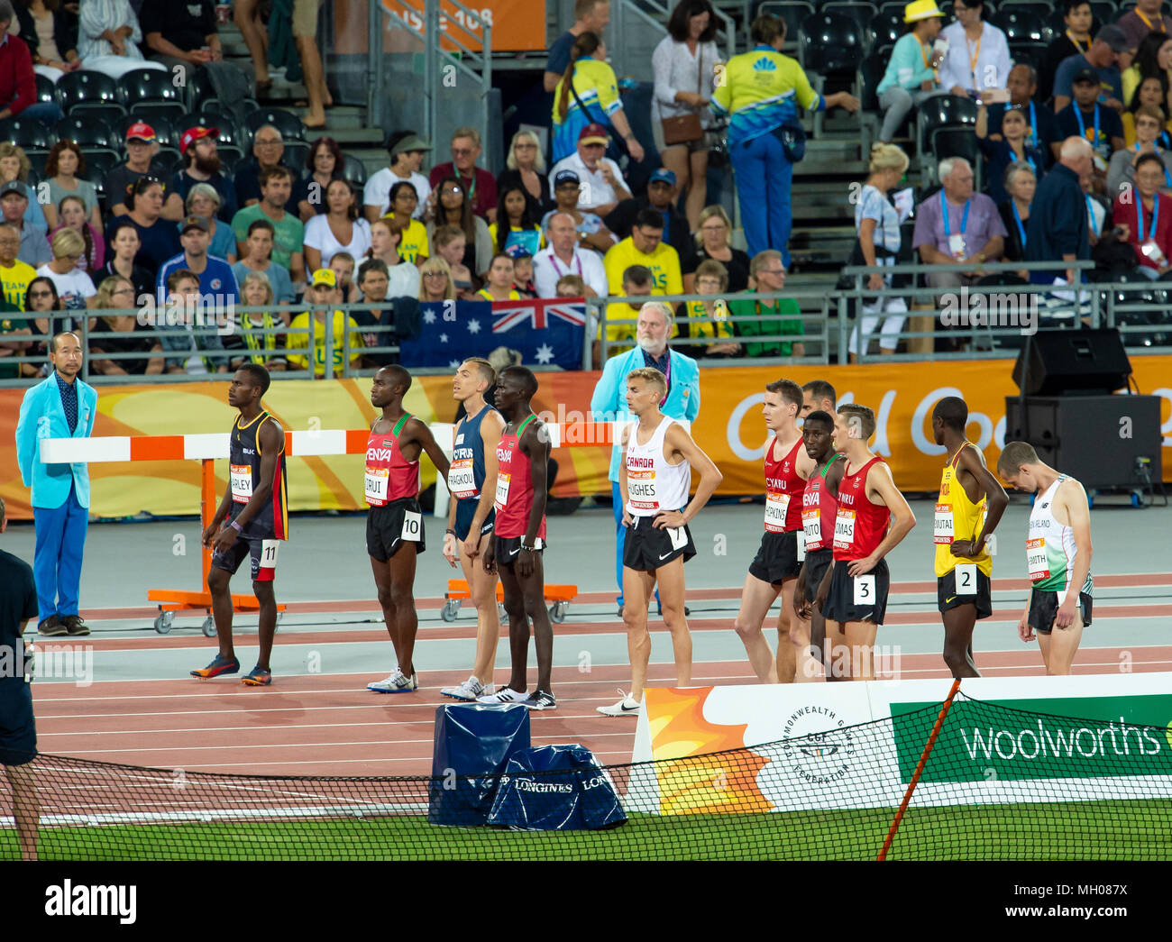 Men's 3000m Steeplechase Final-Commonwealth Games 2018 Stock Photo