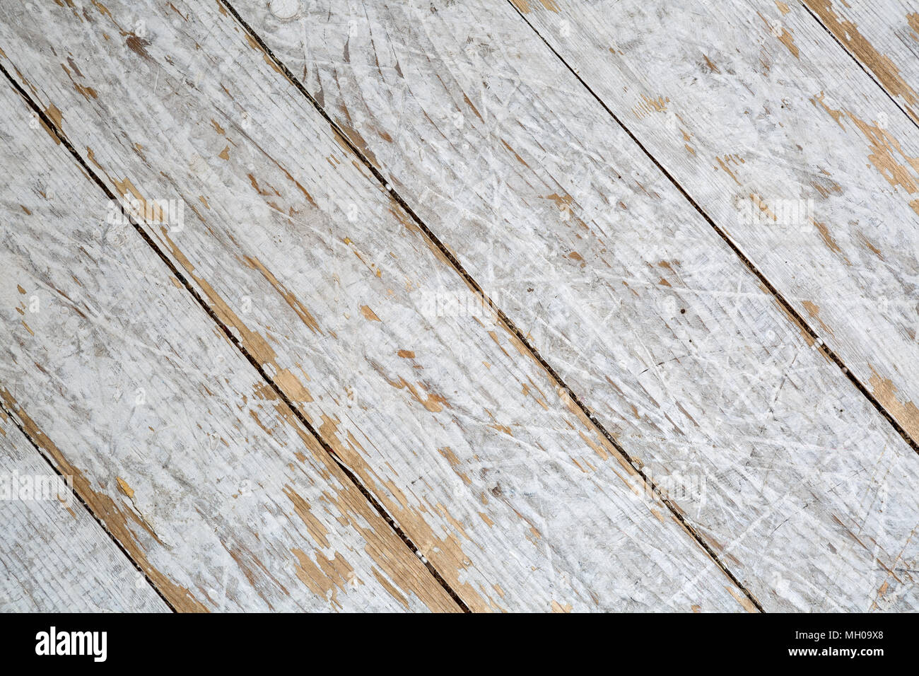 Textured wooden background in white paint diagonal panels Stock