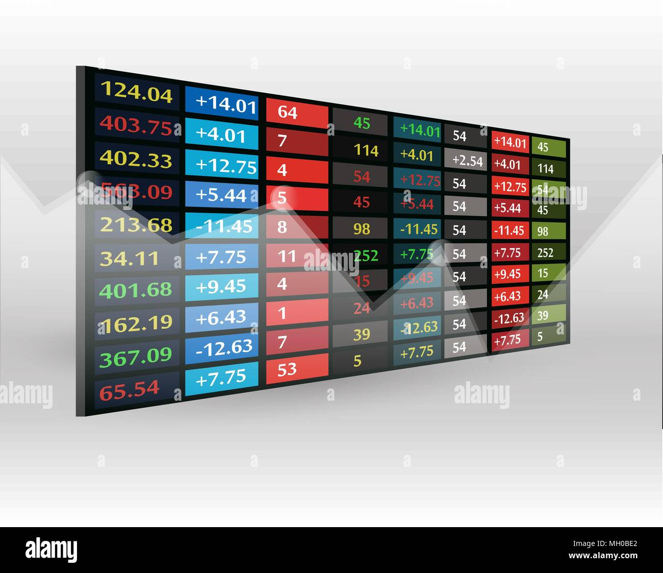 stock market price display background - Stock Vector