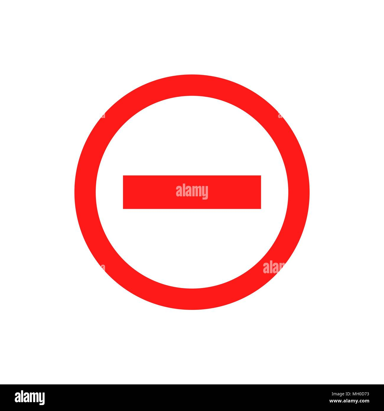 Stop Sign Vector Icon In Flat Style Danger Symbol Illustration On