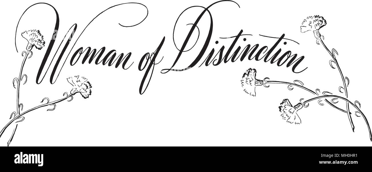 Woman Of Distinction - Retro Clipart Banner - Stock Image