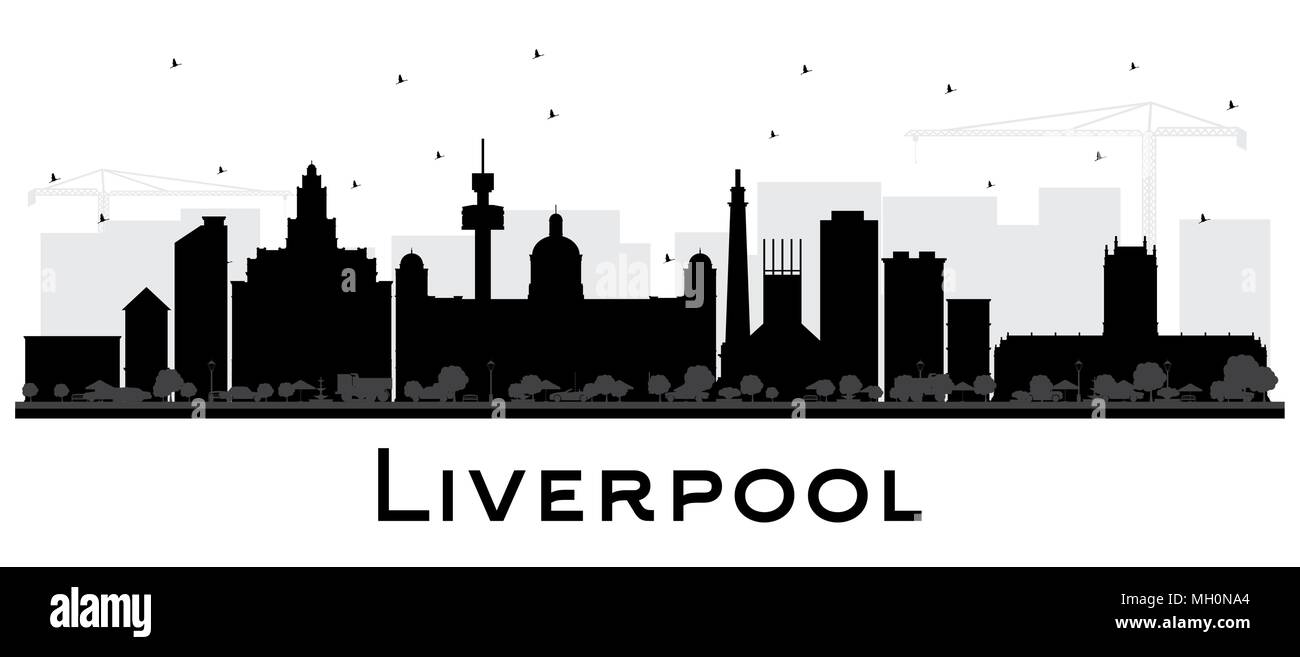 Liverpool City Skyline Silhouette With Black Buildings Isolated On White Vector Illustration Business Travel And Tourism Concept Stock Vector Image Art Alamy