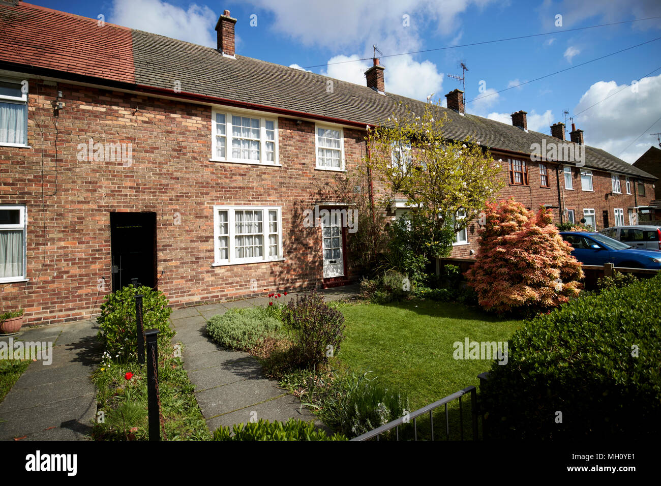 mccartney family home home to paul mccartney forthlin road liverpool merseyside england uk - Stock Image