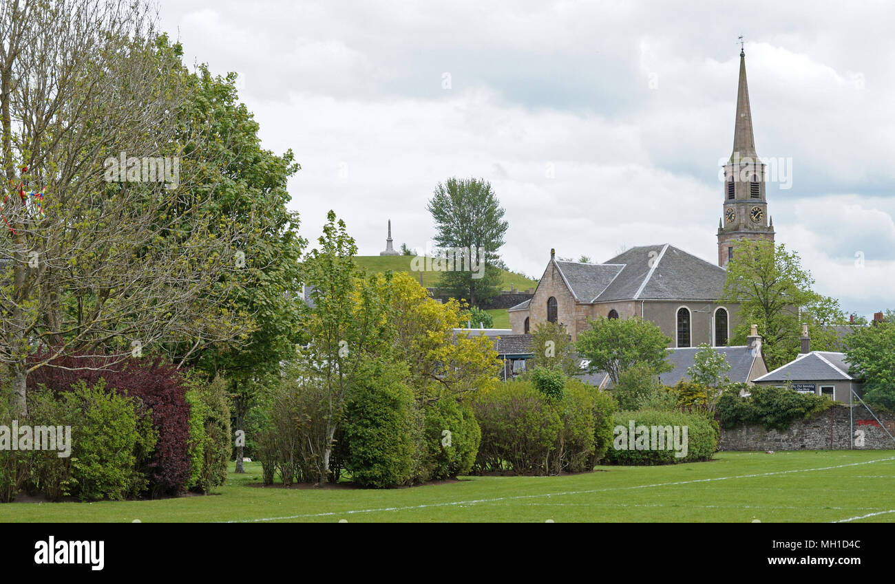 Strathaven Park, John Hastie Park, South Lanarkshire on a Sunny Day - Stock Image