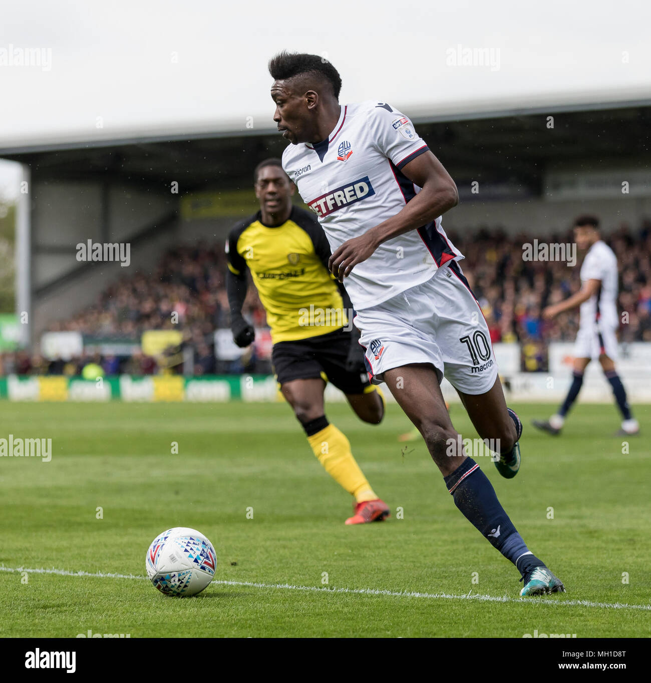 Sammy Ameobi, Bolton Wanderers. Sammy Ameobi playing football for Bolton Wanderers - Stock Image