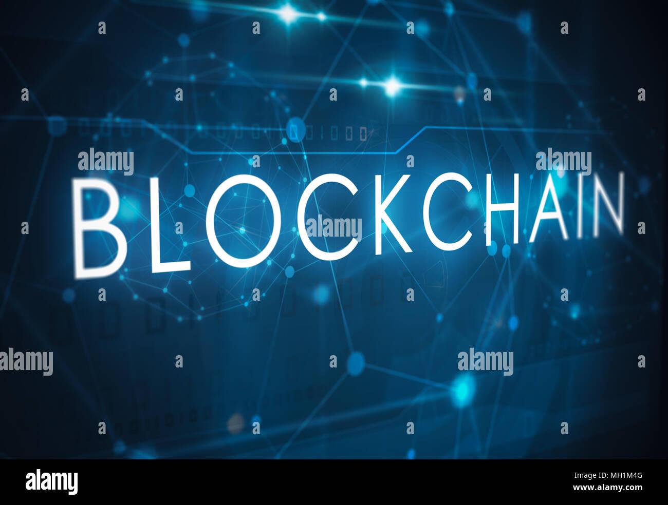 blockchain technology concept - Stock Image