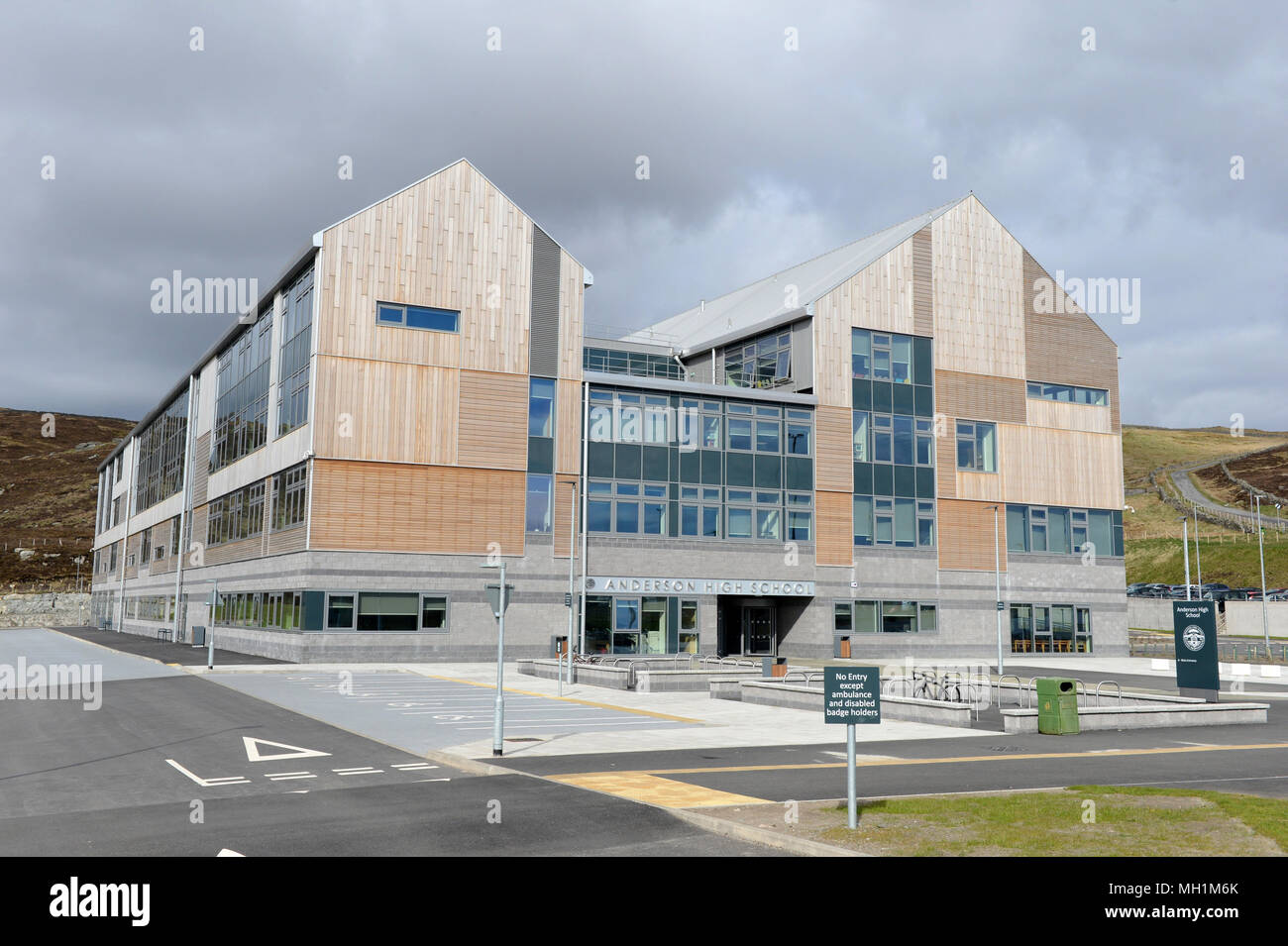 The new Anderson High School in Lerwick Shetland Islands - Stock Image