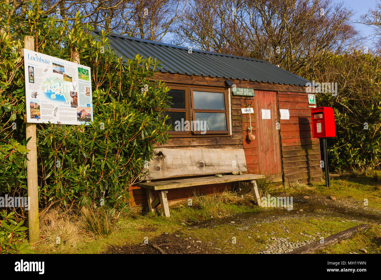The Old Post Office, Lochbuie, Isle of Mull, Scotland, Inner Hebrides, UK - Stock Image