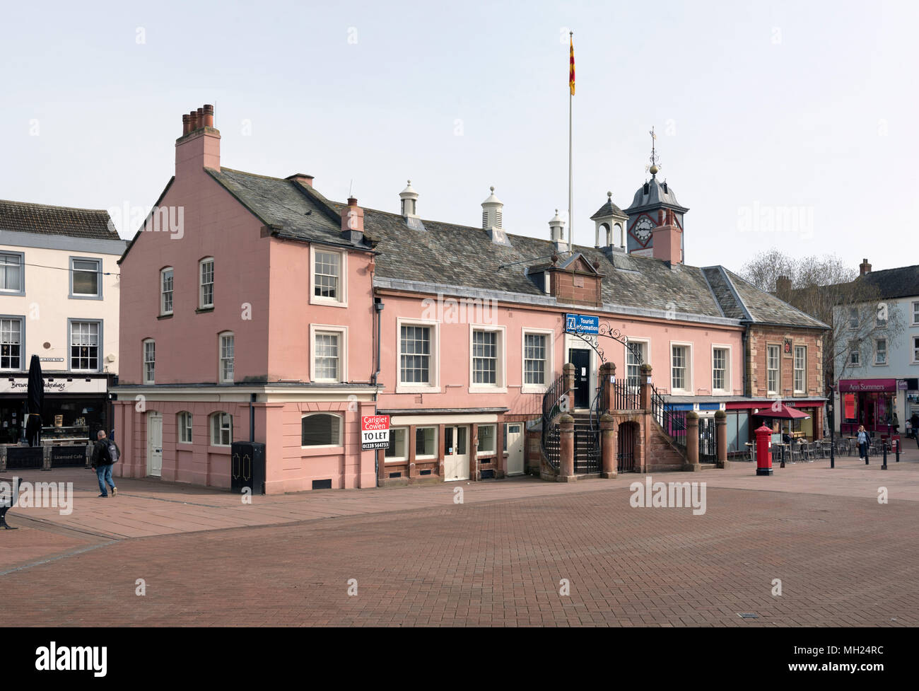 The 17th Century Old Town Hall, Market Place, Carlisle, Cumbria, UK, a Grade One Listed Building. - Stock Image