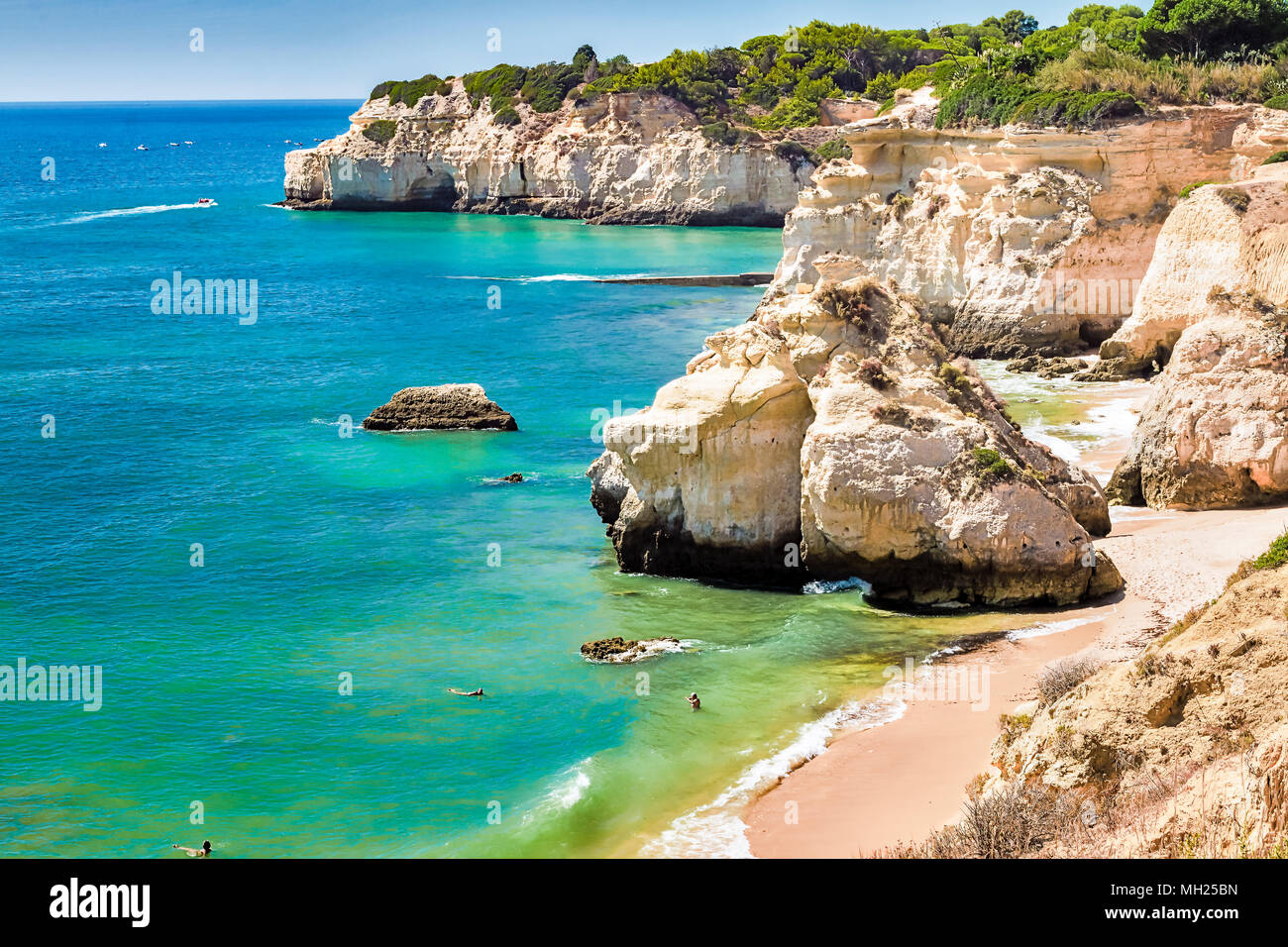 Portugal - Algarve - Praia do Vale do Olival Stock Photo