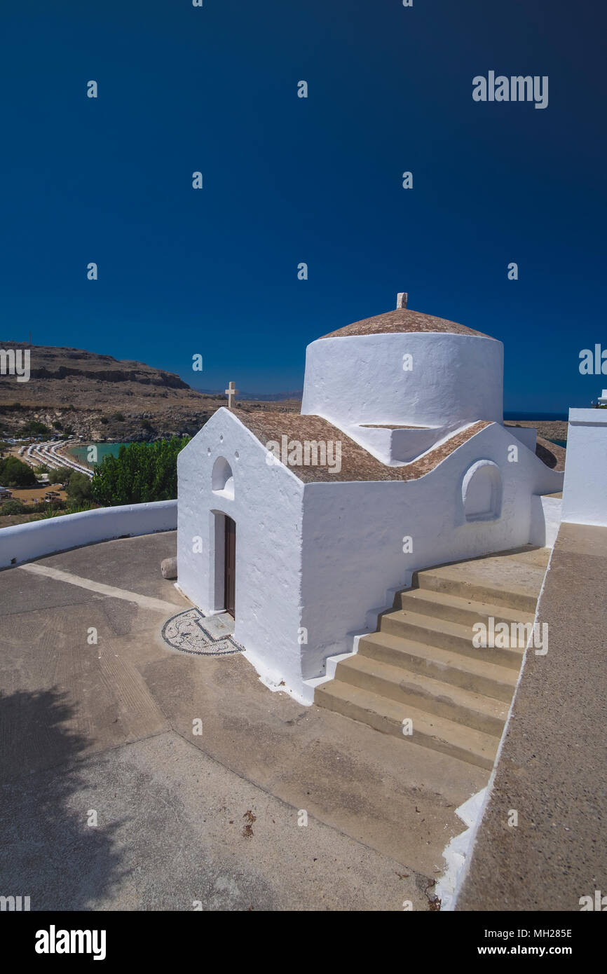Chapel of St. George, Lindos, Rhodes, Greece - Stock Image
